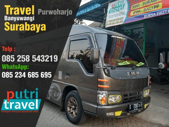 Travel Purwoharjo Banyuwangi Surabaya