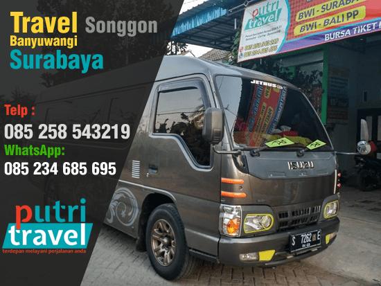 Travel Songgon Banyuwangi Surabaya