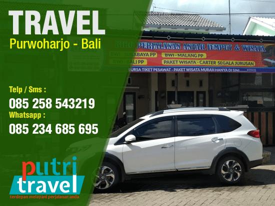 Travel Purwoharjo ke Bali Murah